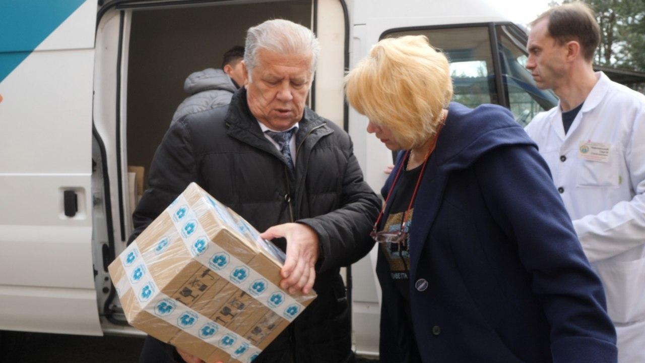 В Новые Санжары доставили крупную партию противовирусных препаратов для профилактики