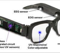 Ученые разработали интеллектуальные электронные очки, способные контролировать мозговые волны и движениям