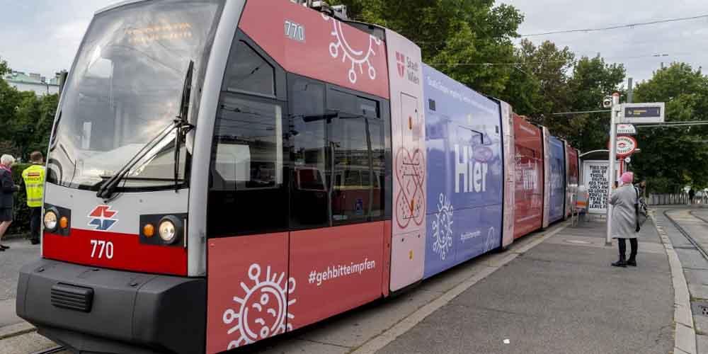 В Австрии запустили антигриппозный трамвай